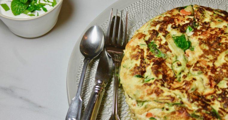 Panquecas de legumes sem farinha refinada