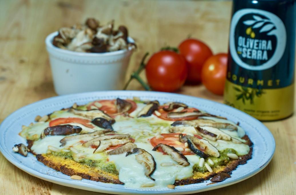 Pizza saudável: sem farinha e com base de batata doce